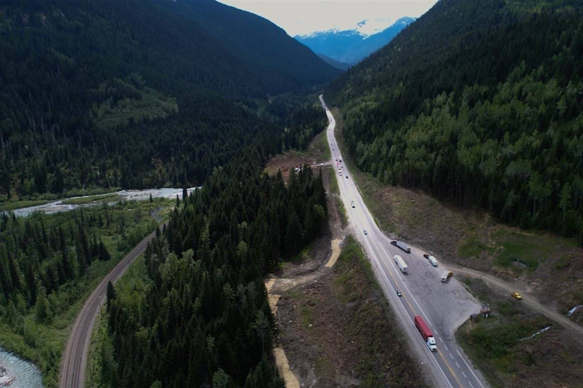 Truck pull-out area near Revelstoke on Highway 1. (B.C. transportation ministry)