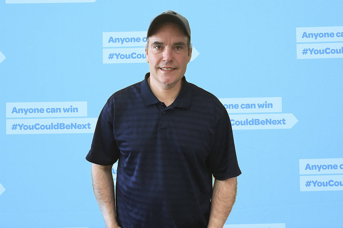 Salmon Arm's Neil Piper just received his second lottery win in a few years, this one a $500,000 Lotto Max prize. (Contributed)