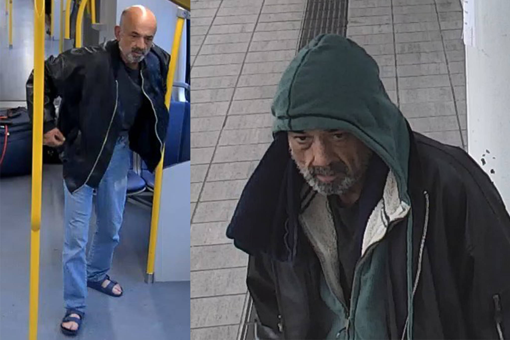 The man picture here is wanted in connection to an alleged assault on a SkyTrain Saturday, April 25, 2020. (Metro Vancouver Transit Police)