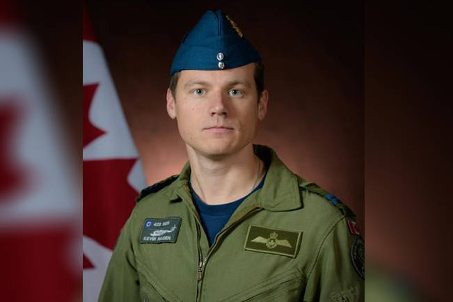 Capt. Kevin Hagen, from Nanaimo, is among the Canadian Armed Forces members missing after a helicopter crash off the coast of Greece yesterday. (Photo submitted)