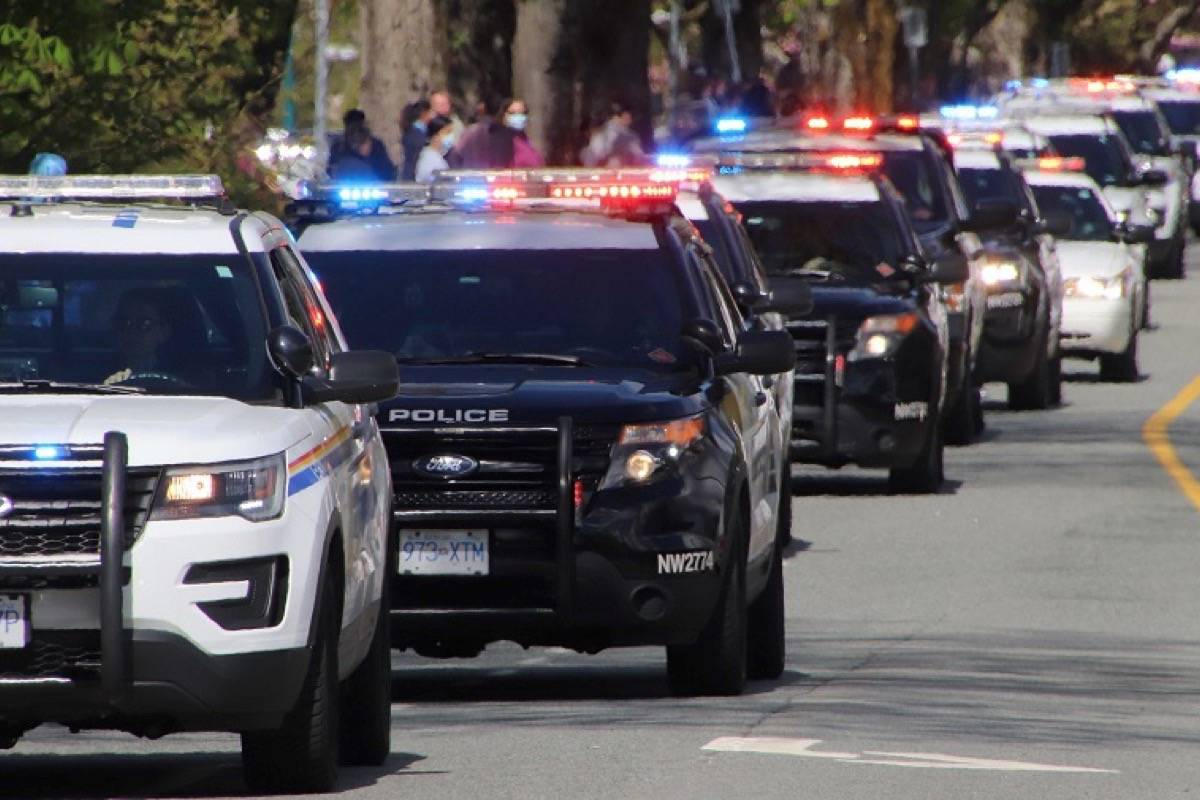 First responders from around the Lower Mainland took part in a motorcade to remember the Nova Scotia shooting victims. (Photos: Shane MacKichan)