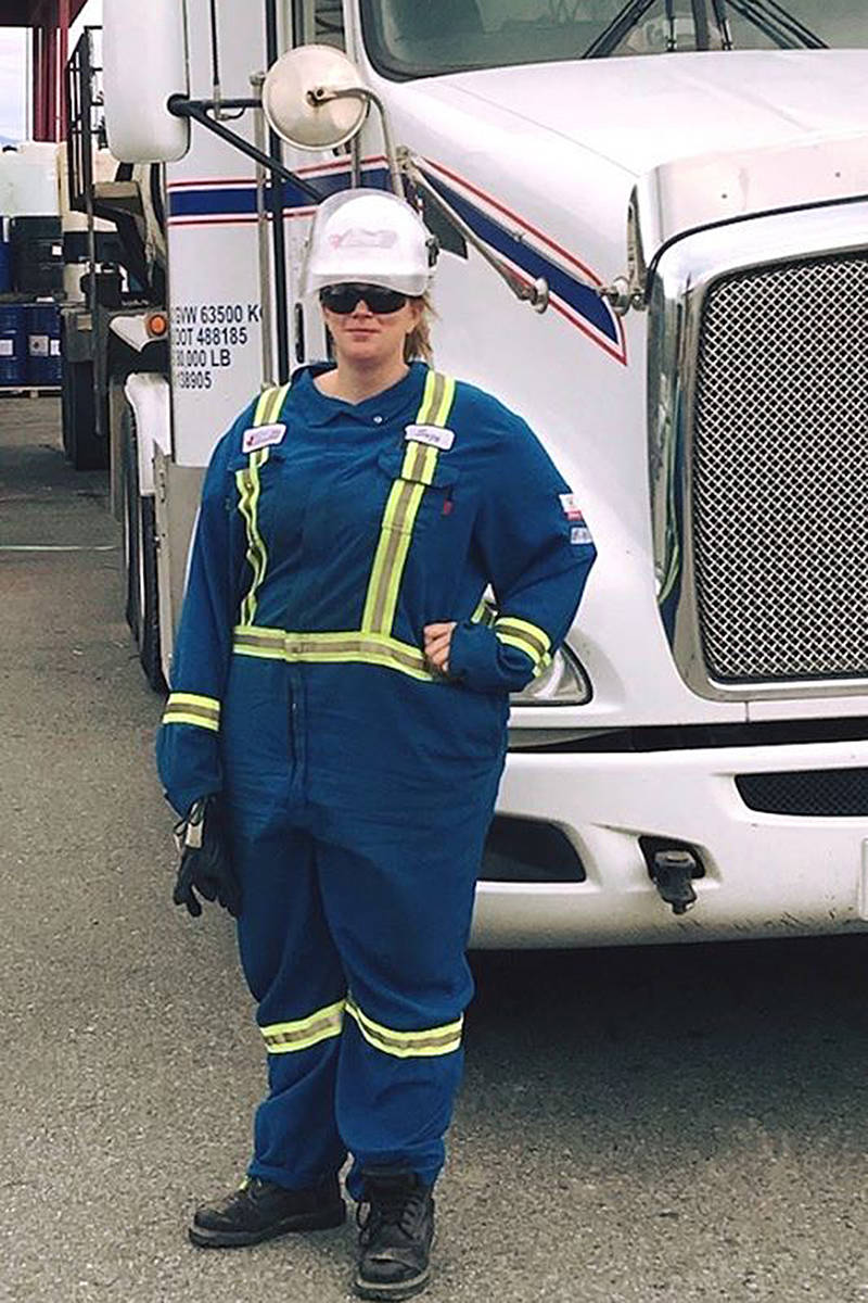 Suzy Sather is one of the drivers for Ken Johnson Trucking. (Photo submitted)