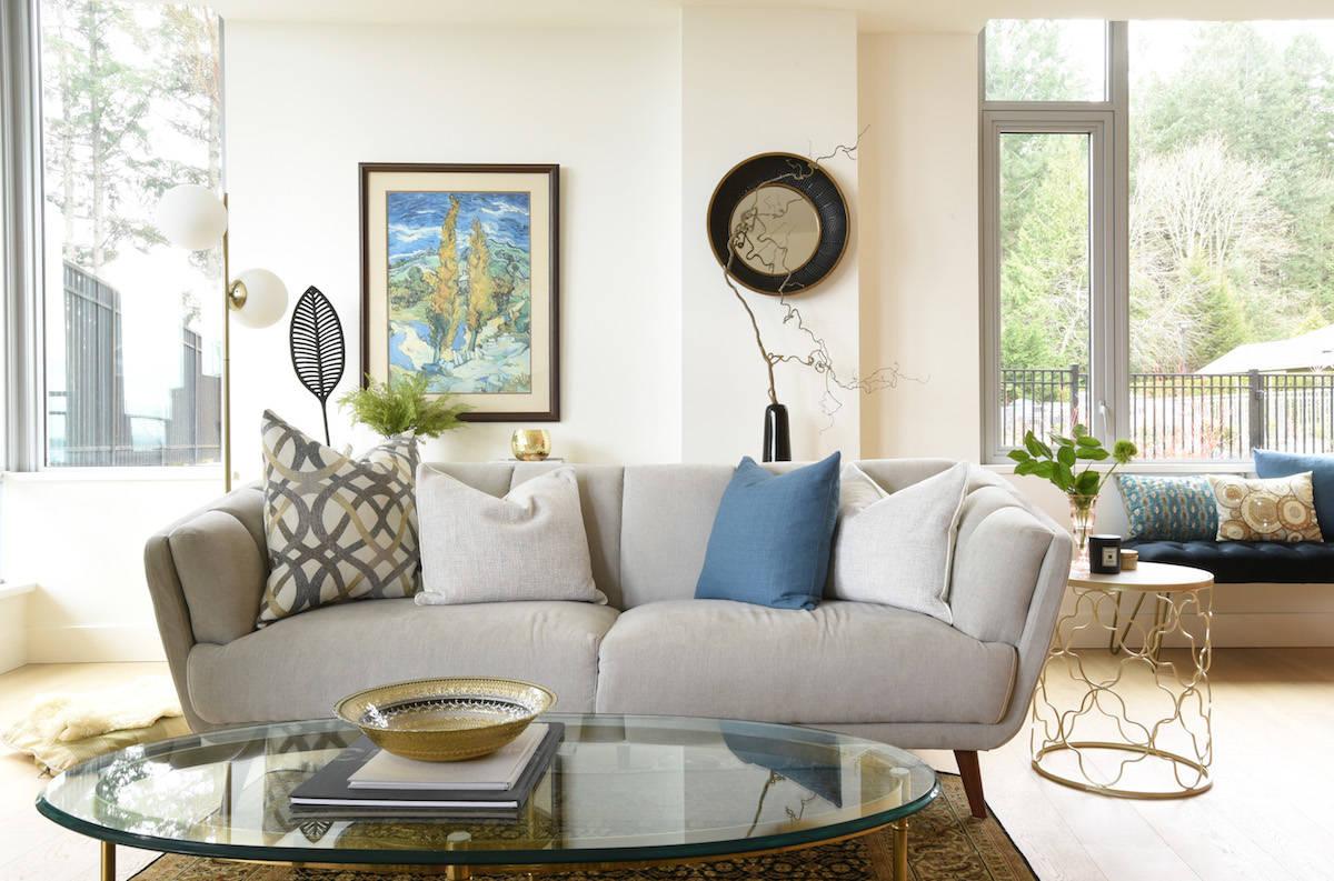Don Denton/Boulevard Couch in front room area in Ingrid Jarisz condo.