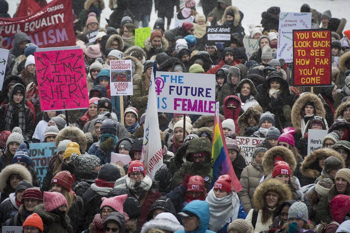 FILE – Women's March. (The Canadian Press)
