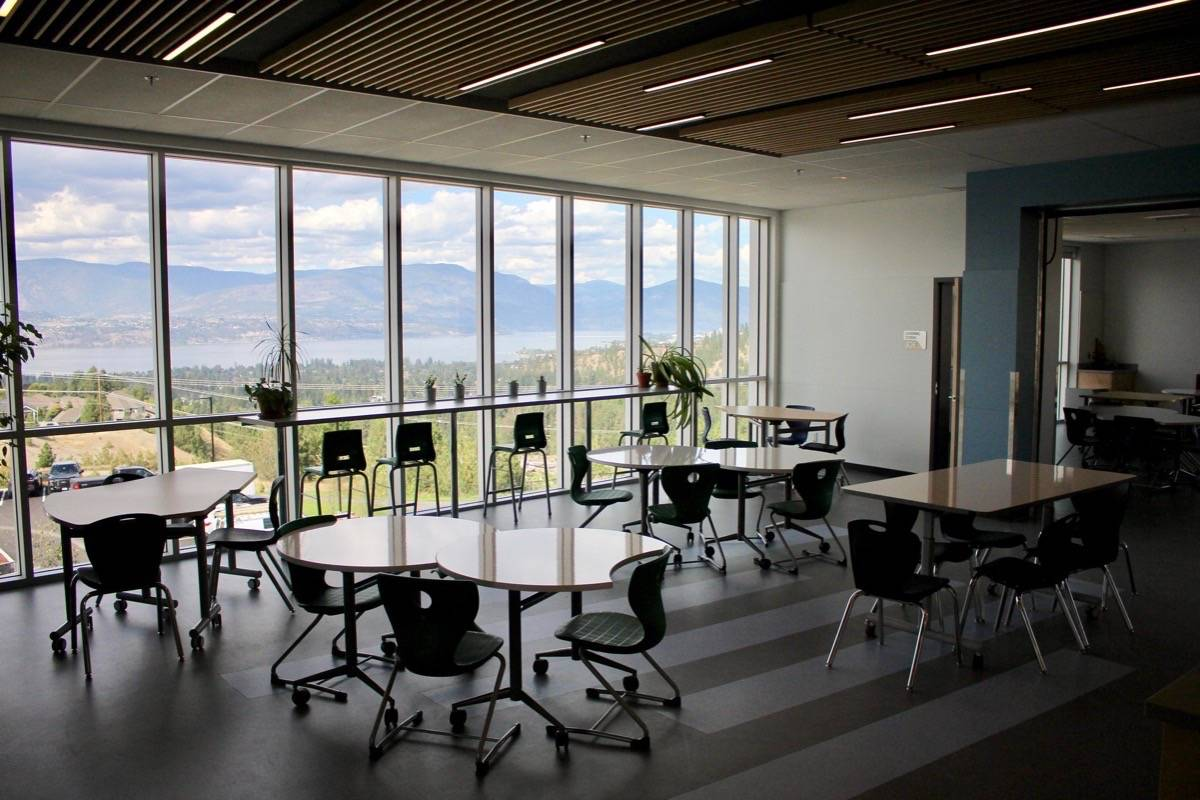 A classroom at a new middle school in Kelowna opened August 2019. (B.C. government)