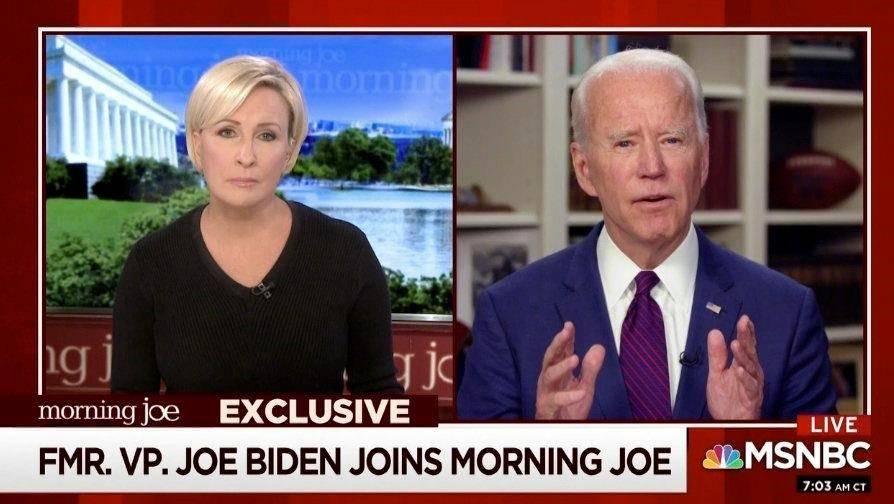 Joe Biden on MSN BC (Associated Press)