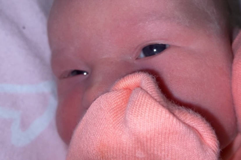 Everly Jordyn Mallais is a healthy baby after being born on a Highlands driveway. (Courtesy of Jessica Mallais)