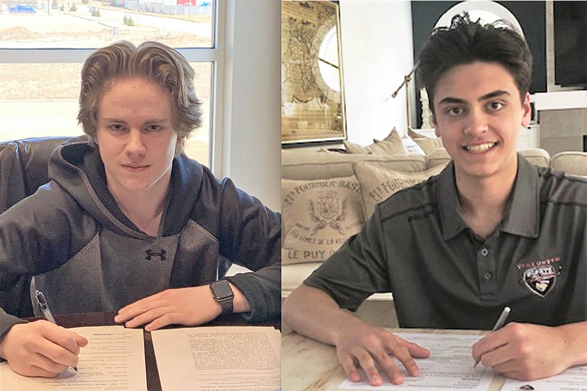 Giants have signed draft picks Mazden Leslie and Ty Halaburda to WHL Standard Player Agreements.