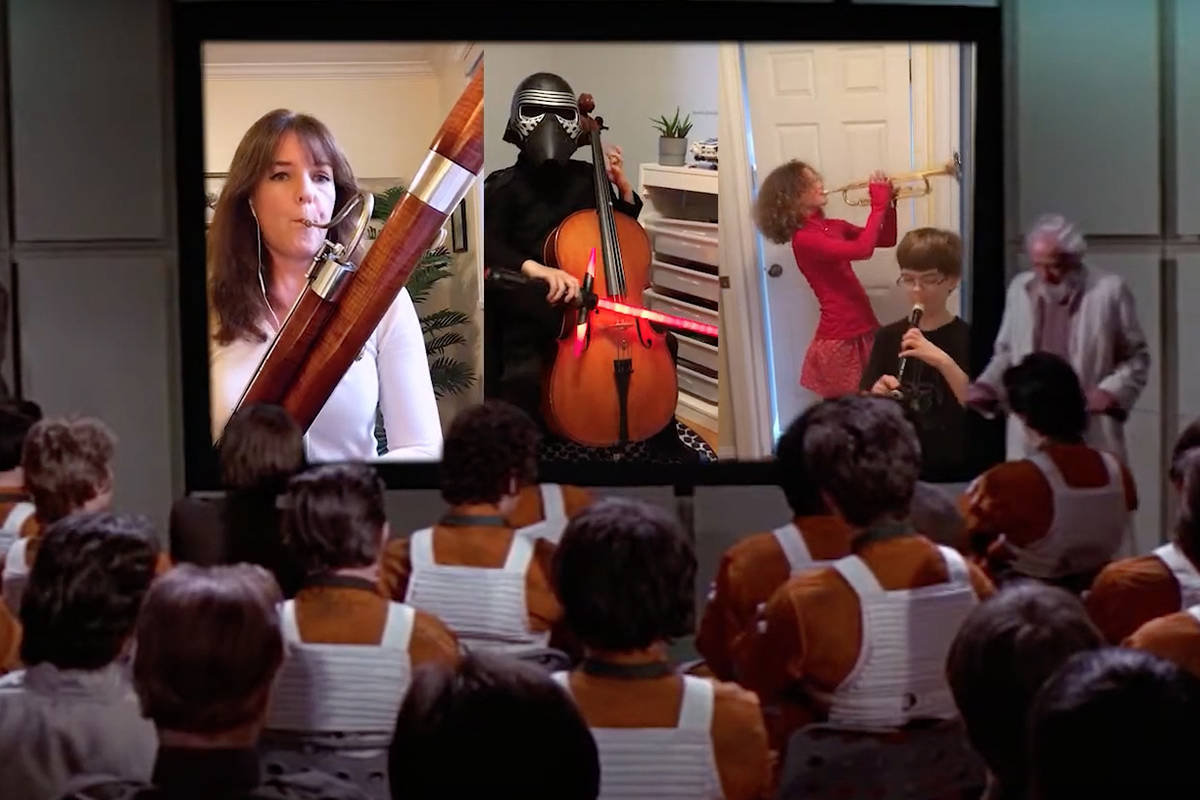 """Image from the """"Cantina Band"""" video."""