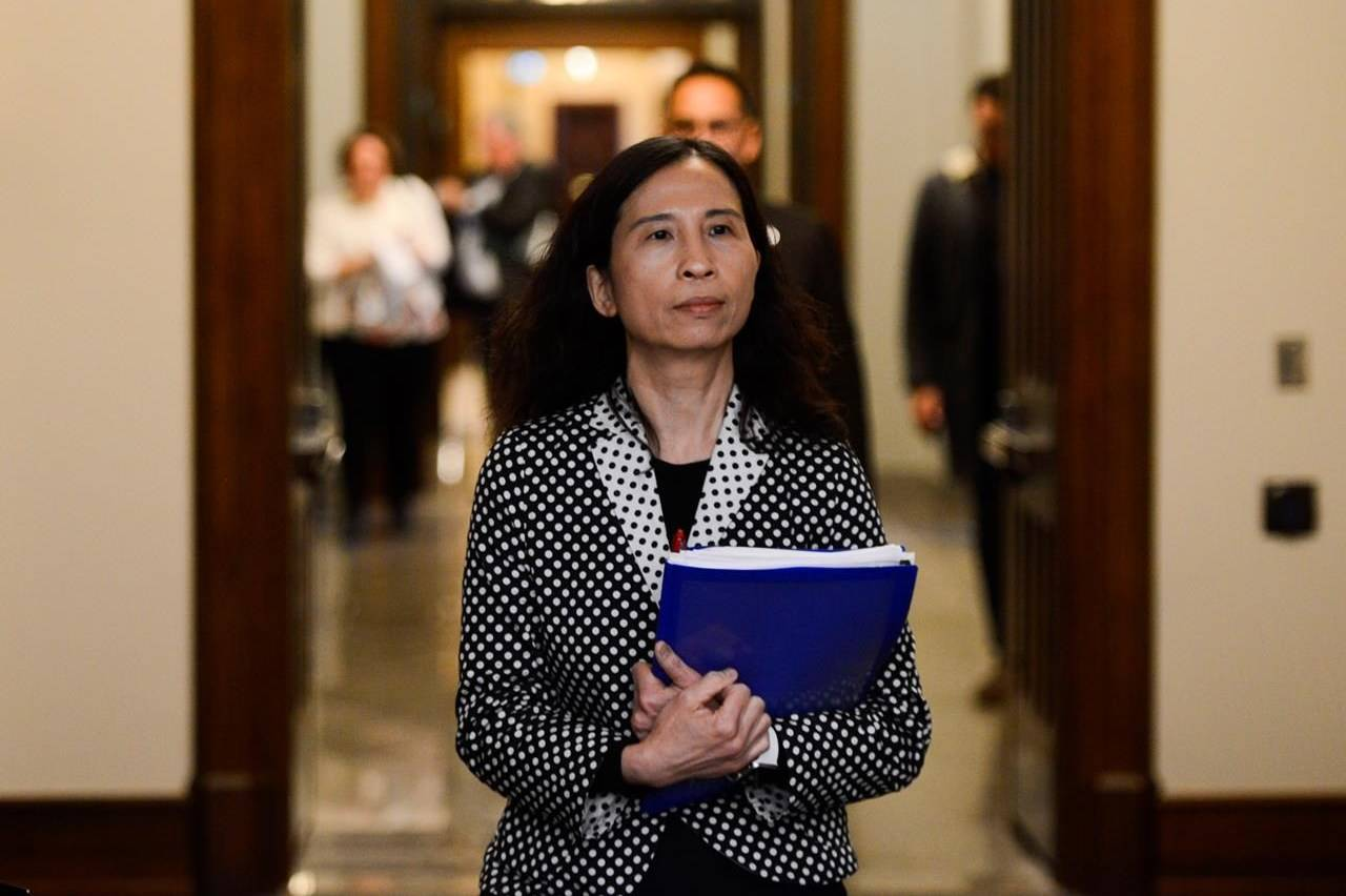 Dr. Theresa Tam, Canada's Chief Public Health Officer, arrives at a press conference on Parliament Hill during the COVID-19 pandemic in Ottawa on Monday, May 4, 2020. THE CANADIAN PRESS/Sean Kilpatrick