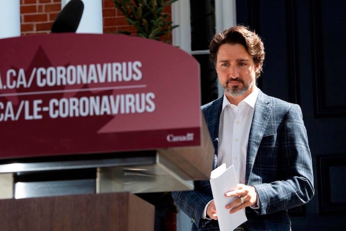 Prime Minister Justin Trudeau announced $175 million for a Vancouver biotech company, AbCellera Biologics Inc., which has identified antibodies that could be used to create treatments or a vaccine, in an May 3, 2020 story. (Photo by THE CANADIAN PRESS)