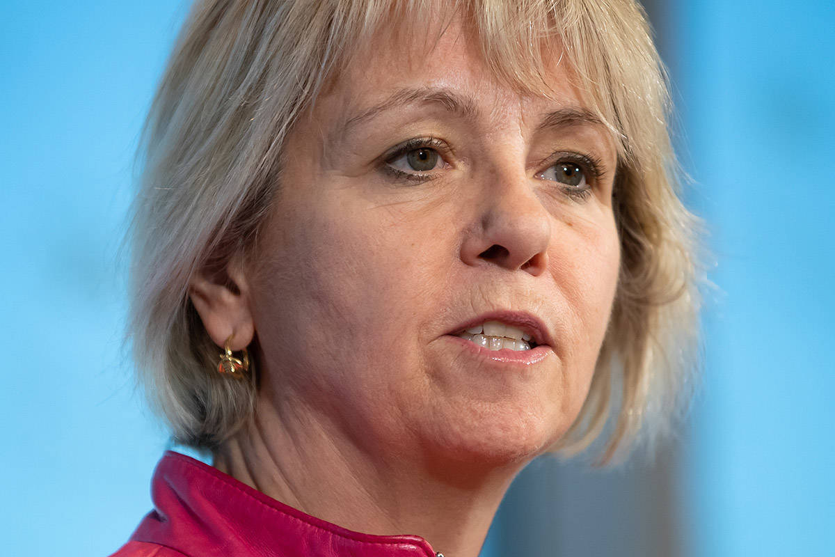 British Columbia provincial health officer Dr. Bonnie Henry speaks during a news conference in Vancouver, on Wednesday, March 18, 2020. THE CANADIAN PRESS/Darryl Dyck