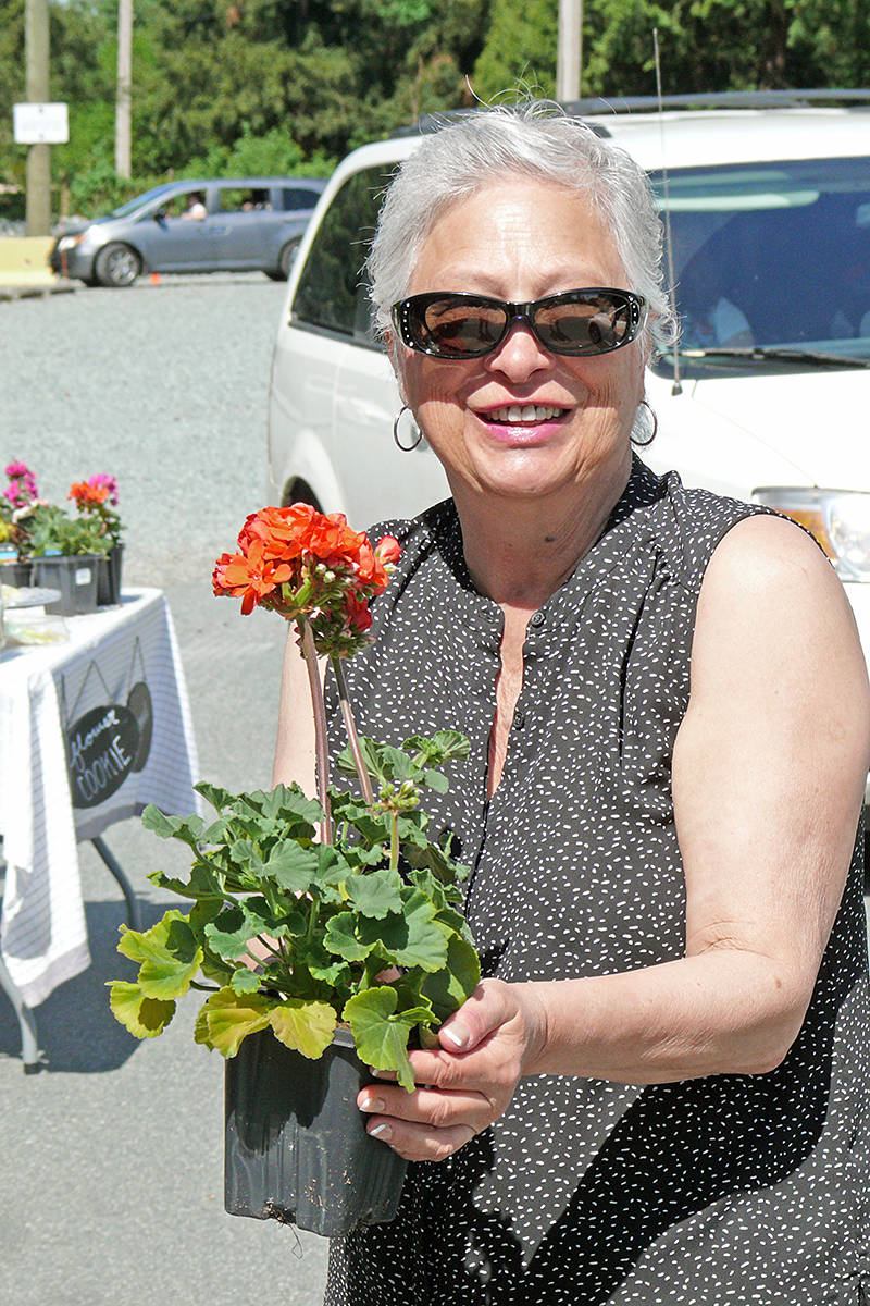 Sheila Croston from Langley was one of dozens who attended a drive-by Mother's Day celebration at Living Water Church in Fort Langley on Sunday, May 10th.(Dan Ferguson/Langley Advance Times)