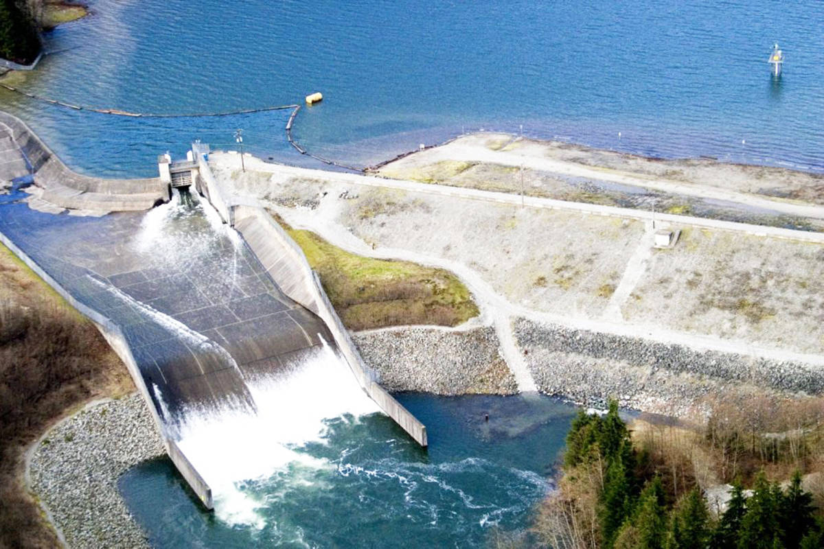 The BC Hydro dam at Alouette Lake. (Contributed)