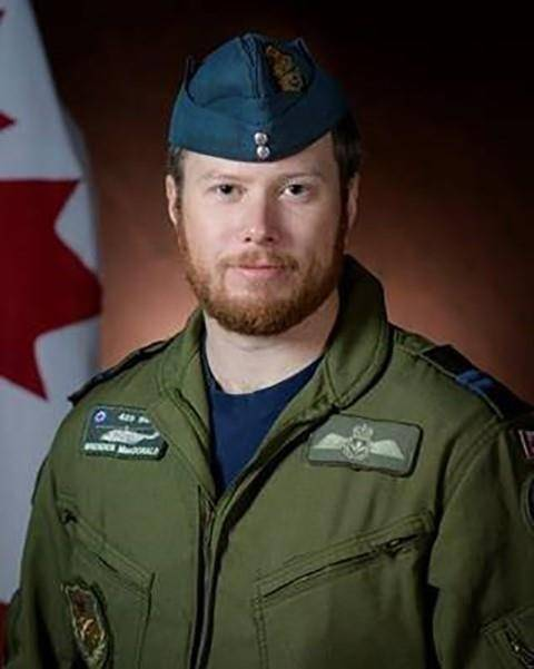 Capt. Brenden Ian MacDonald is shown in a Department of National Defence handout photo. The Department of National Defence says it's recovered and identified the partial remains of a second victim of last month's military helicopter crash in the Mediterranean Sea. A government release says the Office of the Chief Coroner for Ontario identified the remains of Capt. Brenden Ian MacDonald of New Glasgow, N.S., on Friday. THE CANADIAN PRESS/HO-Department of National Defence
