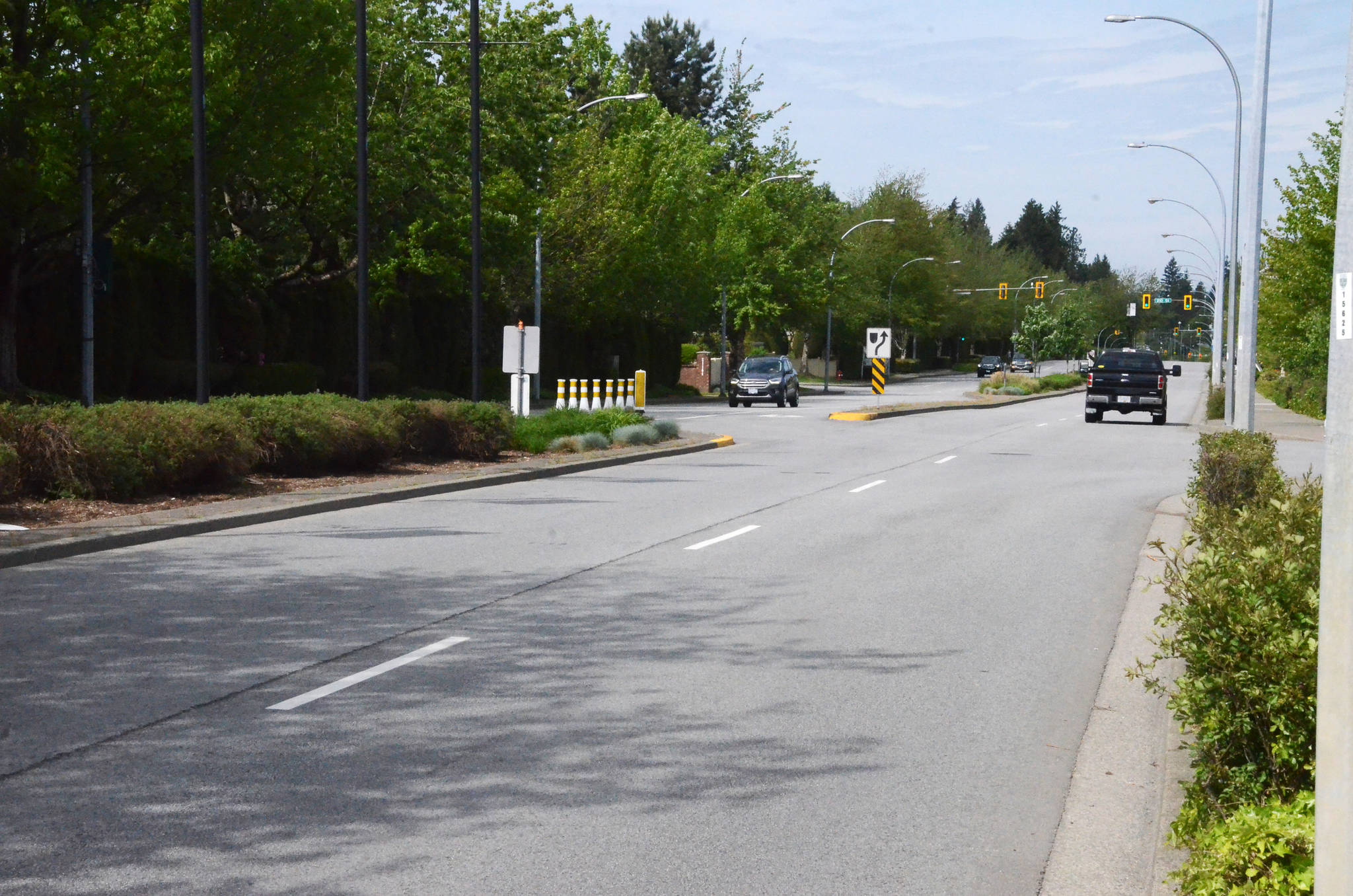 HUB Langley would like the westbound lane of 88th Avenue, seen here, reserved for pedestrian and cyclist access during daylight hours. (Matthew Claxton/Langley Advance Times)