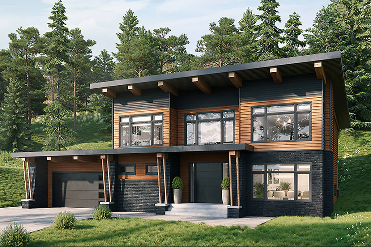 A rendering of this year's PNE Prize Home, as seen on the website pneprizehome.ca.