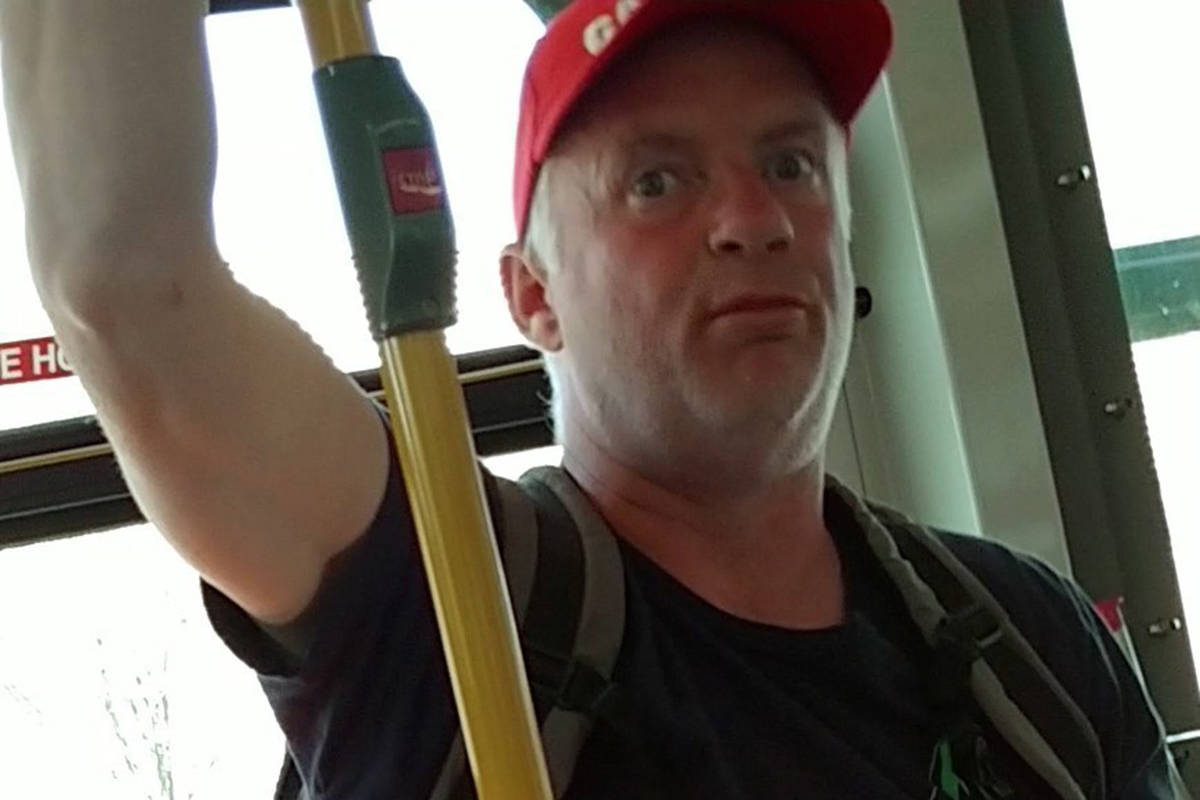 Transit police are looking for this man after an anti-Asian attack left one woman with bruises and a torn scalp. (Metro Vancouver Transit Police)