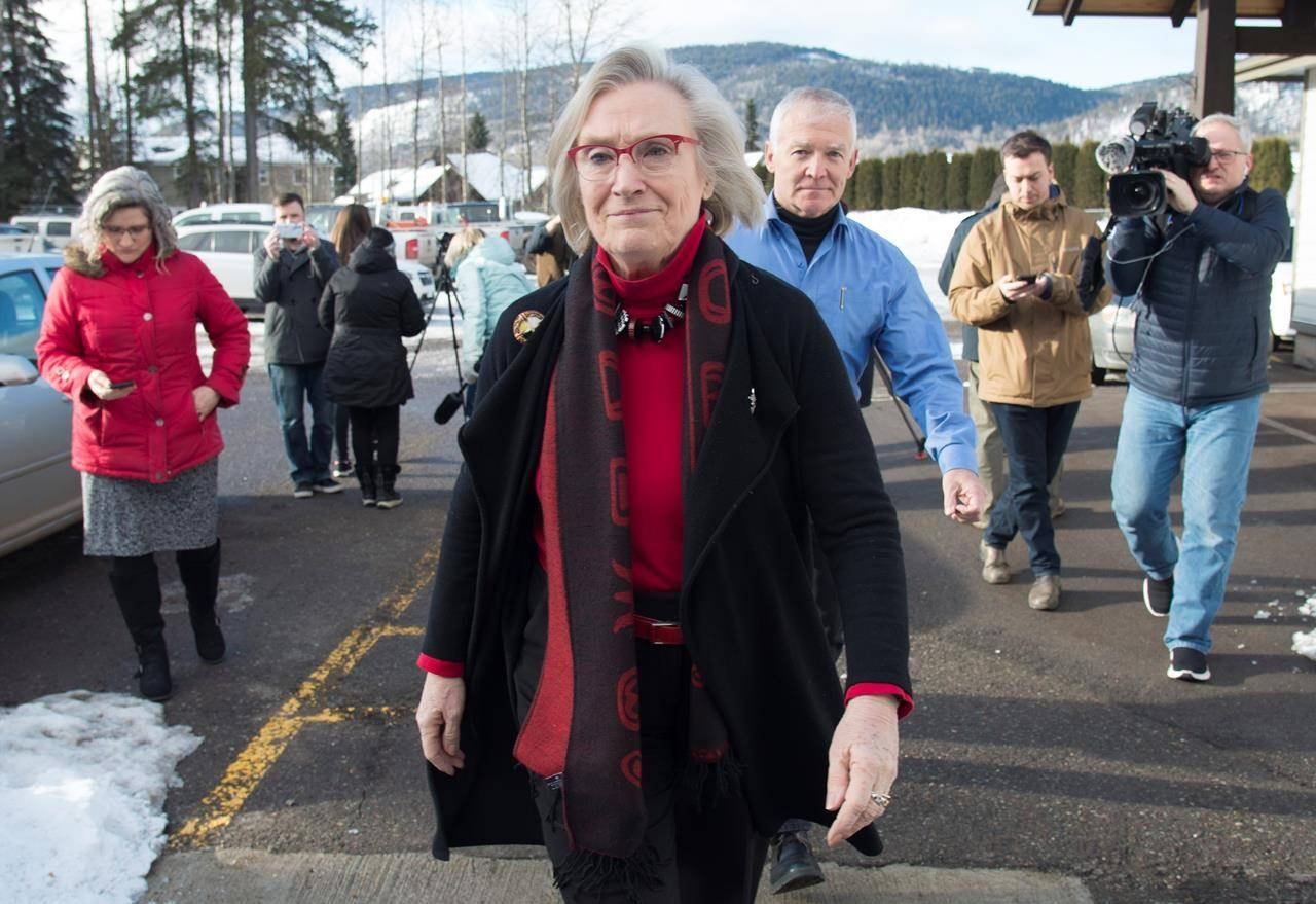 Federal Crown-Indigenous Relations Minister Carolyn Bennett in Smithers, B.C. on Feb. 28, 2020. (The Canadian Press)
