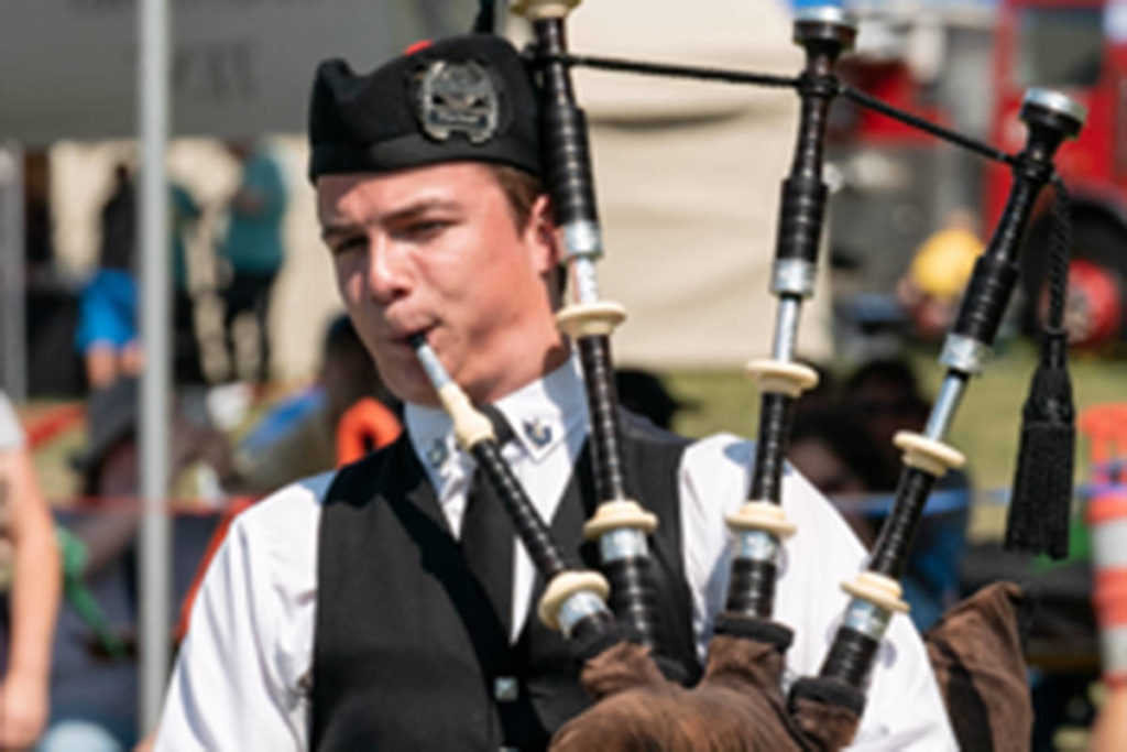 Langley bagpiper shows off his skills in online competition - Langley Advance Times