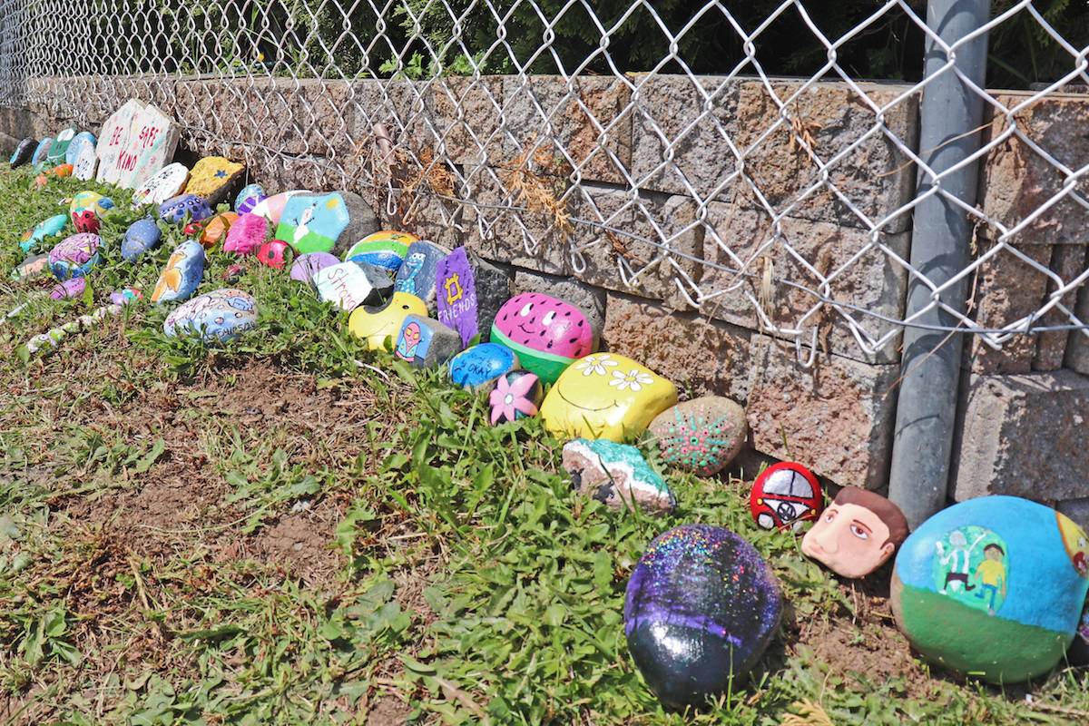 PHOTOS: Aldergrove Grade 12 student creates catching hill of 'hope' amid pandemic