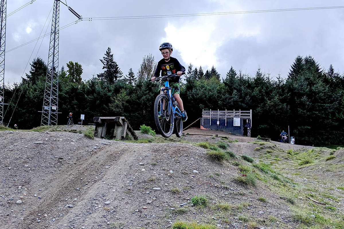 The bike park at Penzer Park is one of the outdoor facilities Langley City plans to reopen to the public starting May 19. (Rocky Blondin/Special to the Langley Advance Times)