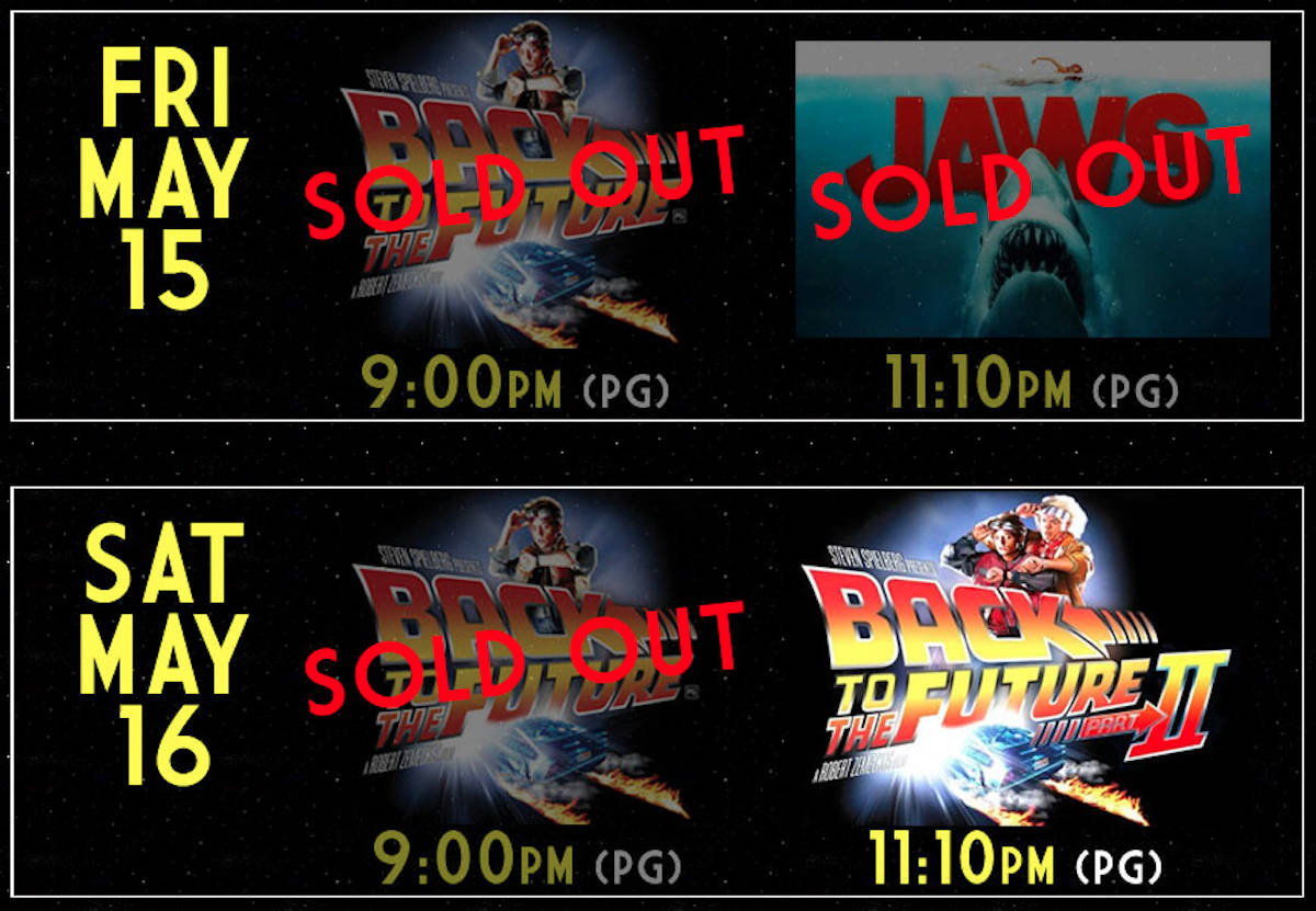 The theatre, which has in recent weeks been offering retro movies including Jurassic World, has sold out of tickets for many of its showings. (Twilight Drive-In website)