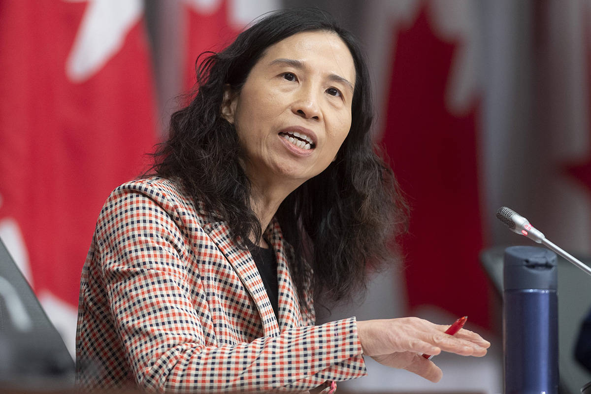 Chief Public Health Officer Theresa Tam speaks during a daily briefing Wednesday May 13, 2020 in Ottawa. THE CANADIAN PRESS/Adrian Wyld