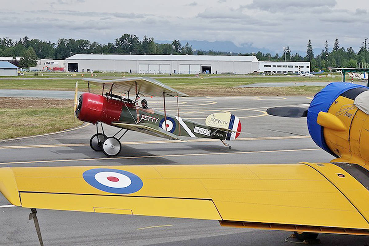Aircraft from the Canadian Museum of Flight at the Langley Regional Airport. Photo courtesy Dennis Cardy, Museum of Flight