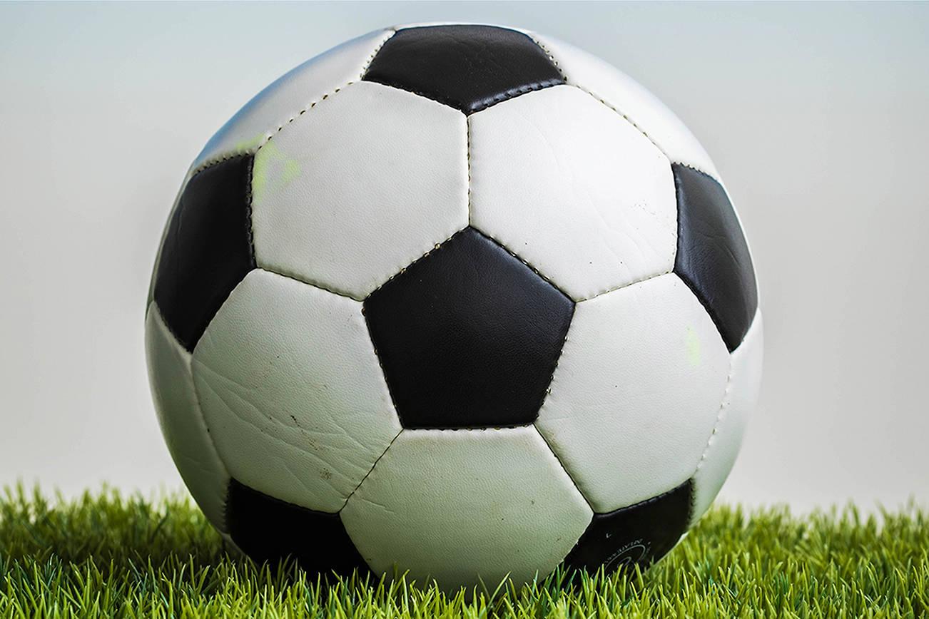 Soccer ball stock shot