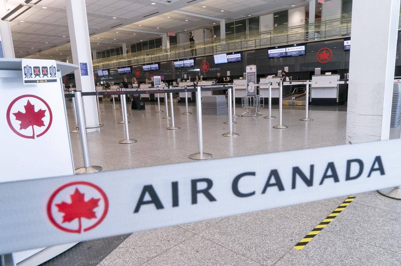 Air Canada reported on May 4, 2020, a $1.05 billion loss in its first quarter. (Photo by THE CANADIAN PRESS)