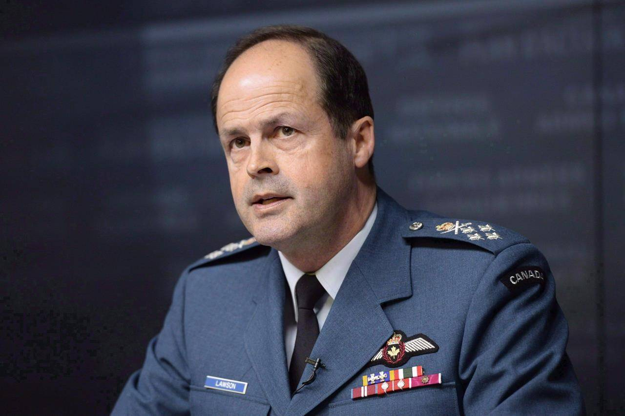 "General Tom Lawson, Chief of the Defence Staff, speaks at a news conference in Ottawa on April 30, 2015. While military investigators search for answers into Sunday's deadly Snowbird crash, one former chief of defence staff says the aerobatic team's 57-year-old Tutor jets is a ""fantastic"" aircraft. THE CANADIAN PRESS/Adrian Wyld"