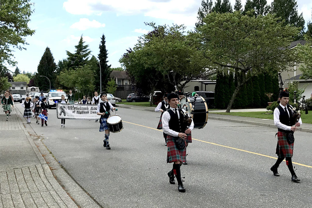 Young Langley Highland dancers and bagpipers perform for seniors - Langley Advance Times