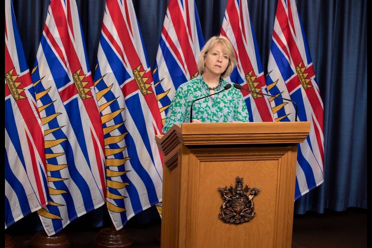 Provincial health officer Dr. Bonnie Henry provides an update on COVID-19 in B.C., May 16, 2020. (B.C. government)