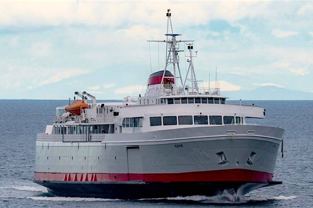 MV Coho has carried passengers and vehicles from Washington state to B.C. since 1959. (Black Ball Ferry Line)