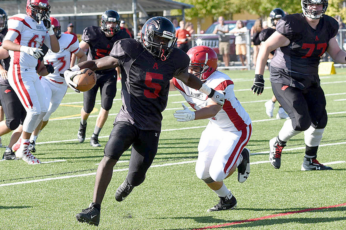 Former Abbotsford Panther star running back Samwel Uko has died at the age of 20. (Ben Lypka/Abbotsford News)