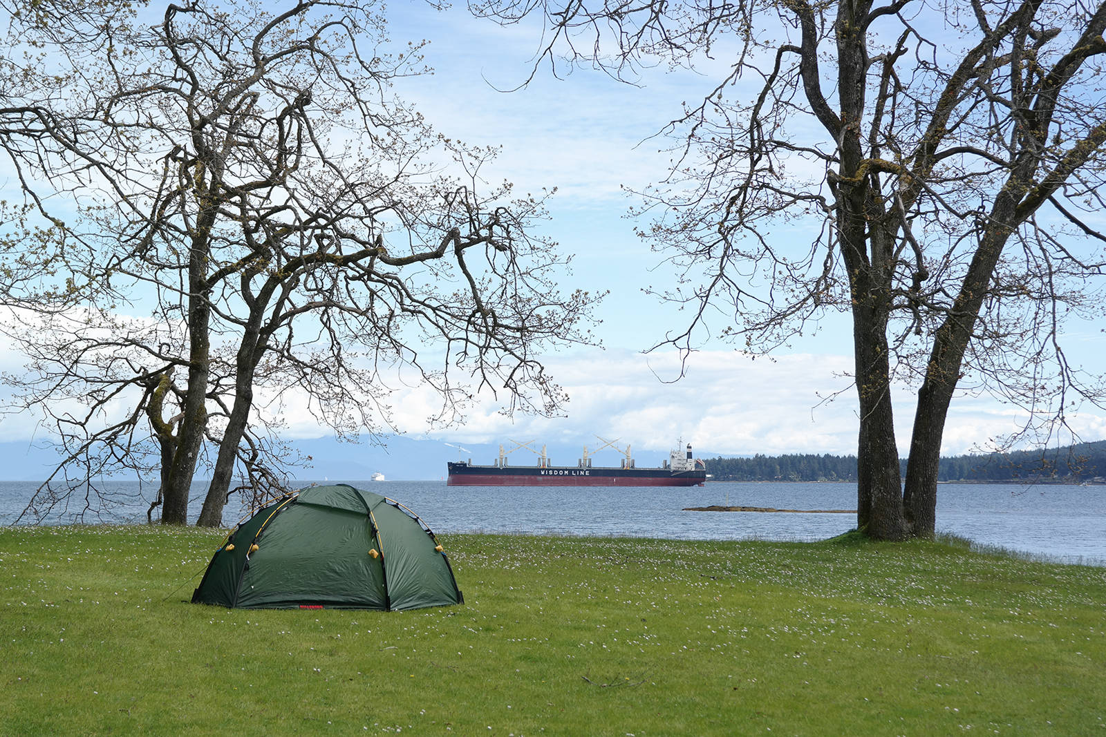 Overnight camping will be allowed as of June 1 in provincial parks such as Saysutshun Newcastle Island in Nanaimo. Provincial parks opened for hiking and other day uses May 14 after being closed since April 8. (News Bulletin file photo)