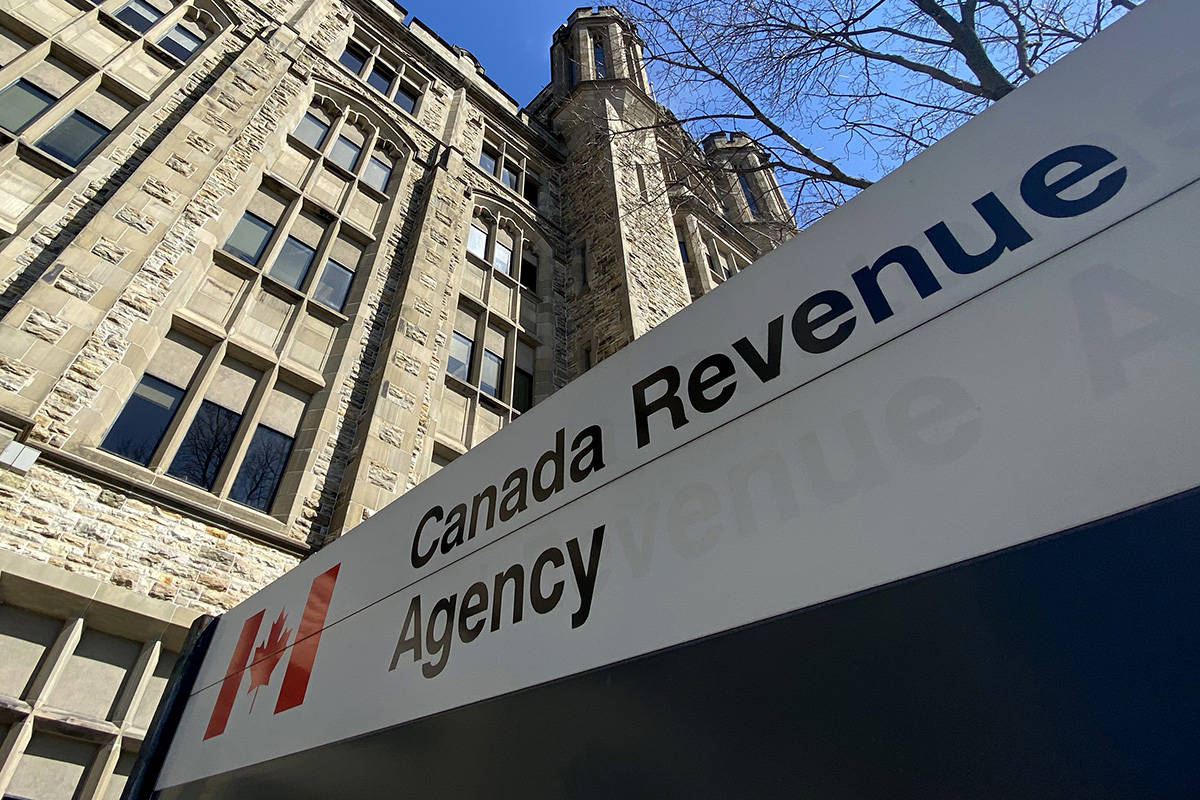 The Canada Revenue Agency building is seen in Ottawa, Monday April 6, 2020. Canada Revenue Agency began accepting applications for the Canada Emergency Response Benefit earlier Monday. THE CANADIAN PRESS/Adrian Wyld