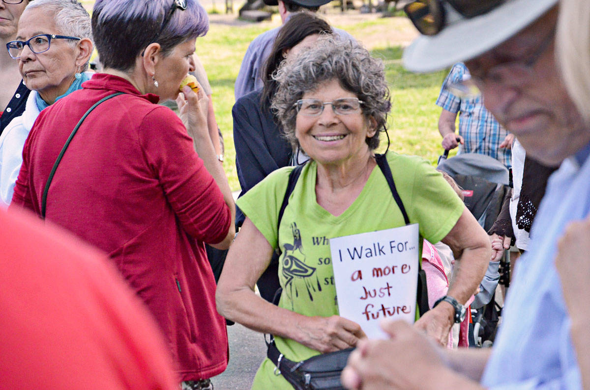 The annual Spirit Walk of Reconciliation was inspired by the Truth and Reconciliation findings were filed in 2015. This year's walk is virtual and happens Friday, Saturday and Sunday. (Langley Advance Times files)