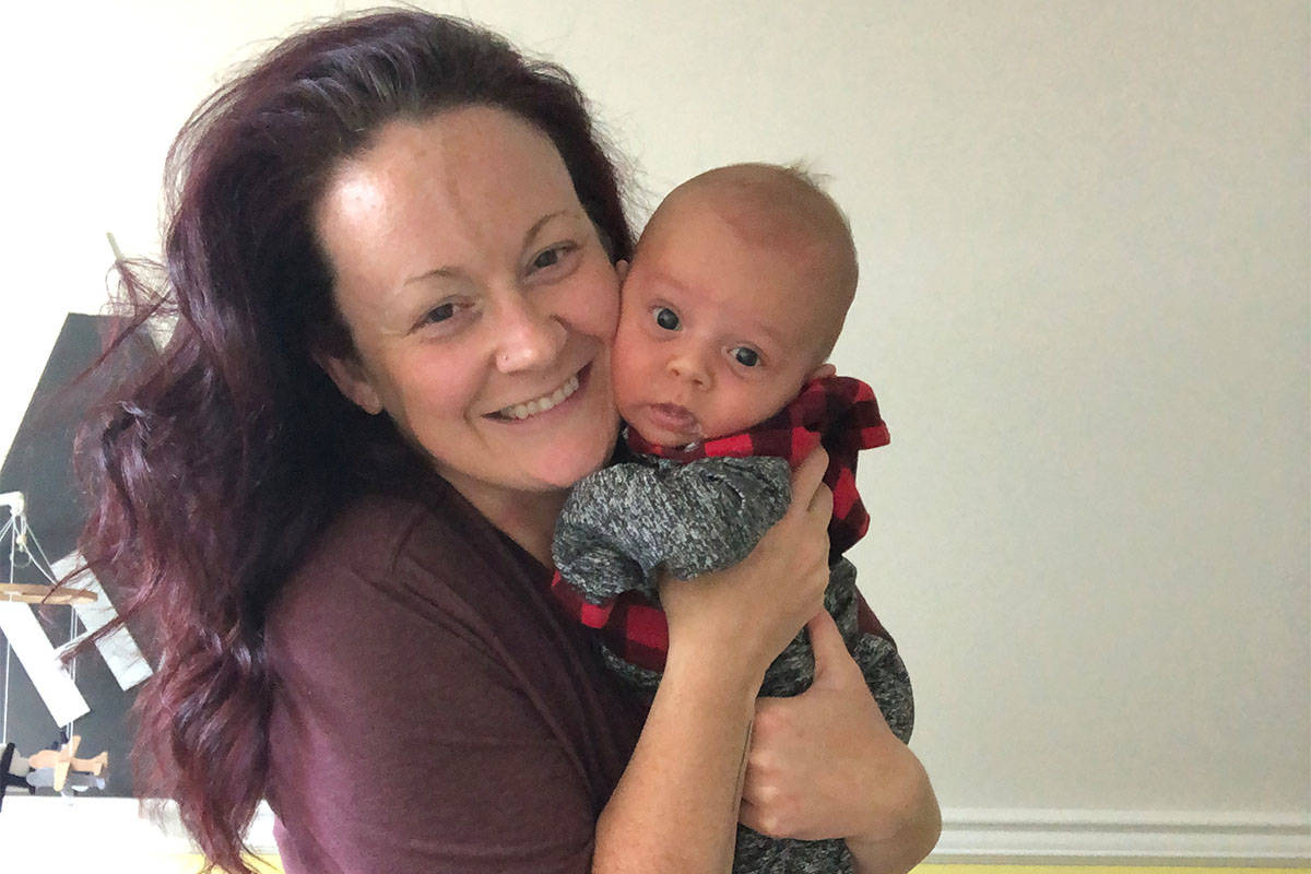 Michelle Hunter tested positive for COVID-19 three days before her due date. (Submitted)