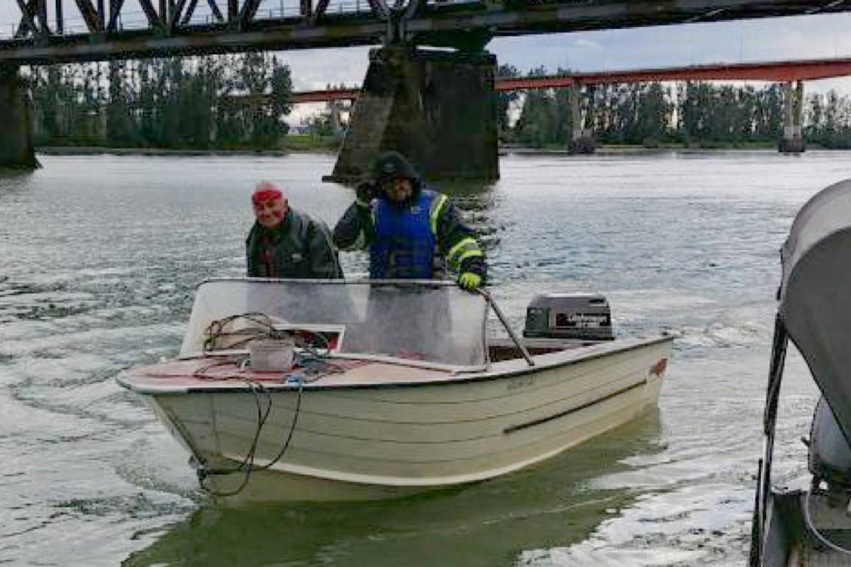 First Nations fishermen from local communities assisted the family in searching for Shawnee Inyallie Sept. 16, 2018. Submitted photo