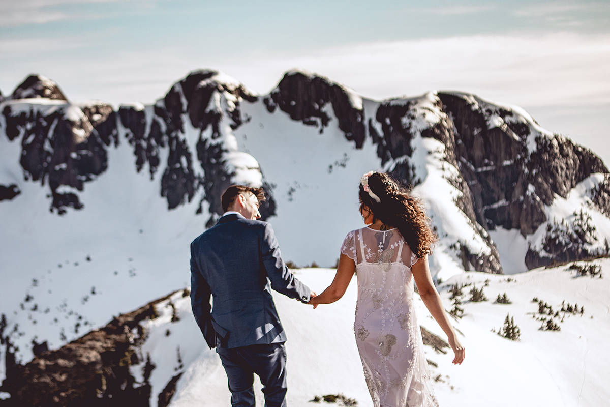 Brayden Boyd and Michelle Fonseca had plans for a big wedding with family in Mexico, when COVID made that impossible. Nanaimo's West Coast Helicopter stepped in and offered to marry them on a Vancouver Island mountaintop.