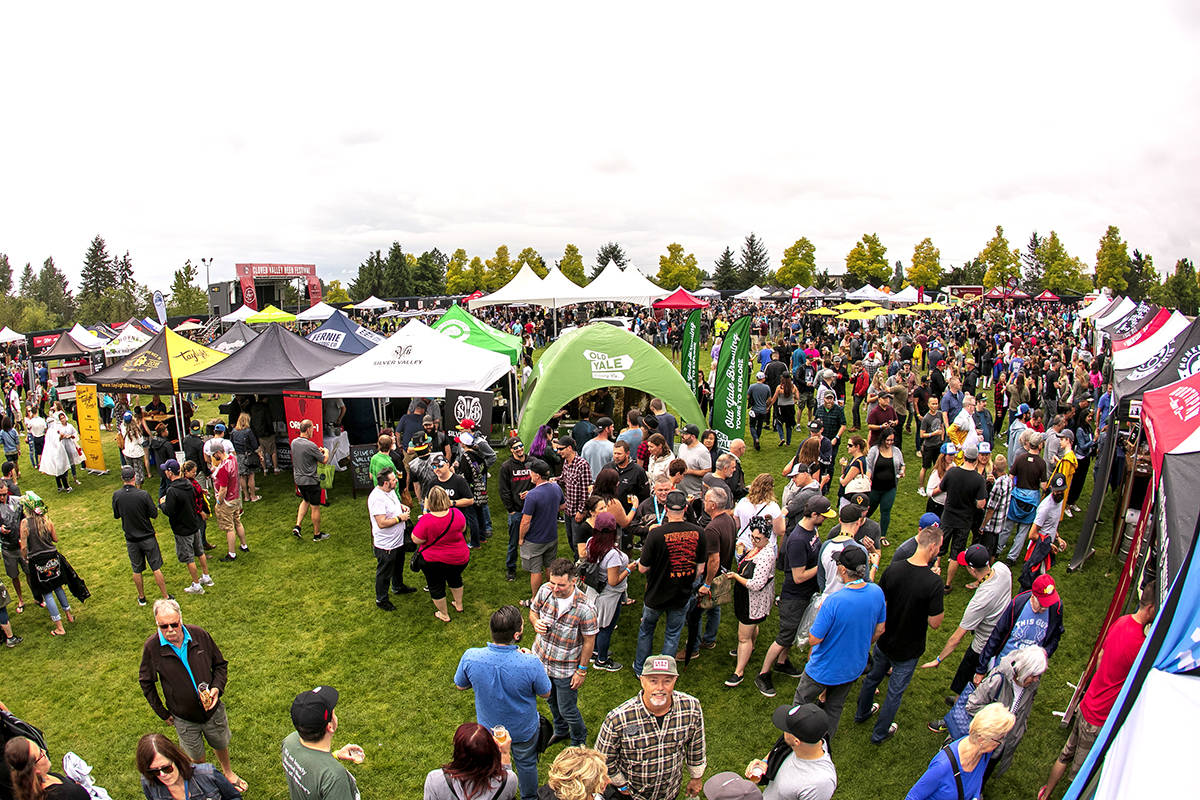 The Clover Valley Beer Festival has been officially cancelled for 2020. Event organizers say more than 2,500 people attended the event (pictured) in 2019. (Kim Eij/Special to Black Press Media)