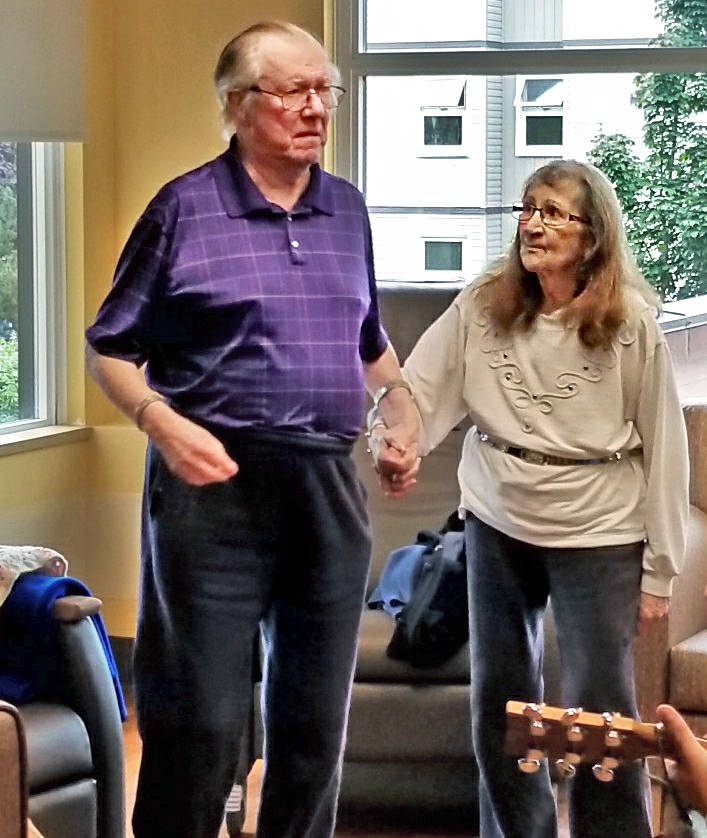 Ron and Verna Clarke, Langley residents who lived and died with dementia at Langley Lodge, enjoyed a year and a half relationship, dancing to Elvis ballads and being each other's most-cherished companion. (Lori Humphrey/Special to the Advance Times)
