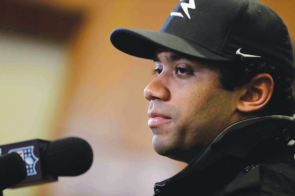 Seattle Seahawks quarterback Russell Wilson. (AP File Photo/David Goldman)