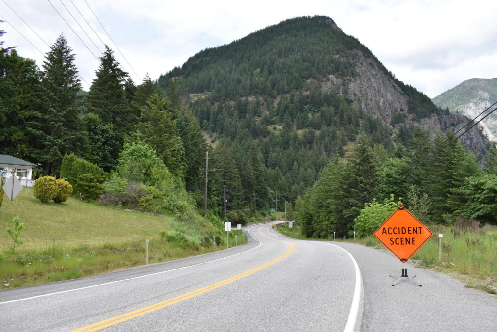 North of Yale along Highway 1 was where police say they found 29-year-old Alica Berg with life-threatening injuries on June 3, 2020. She later died of those injuries, and homicide investigators are asking the public for tips. (Emelie Peacock/ Hope Standard)