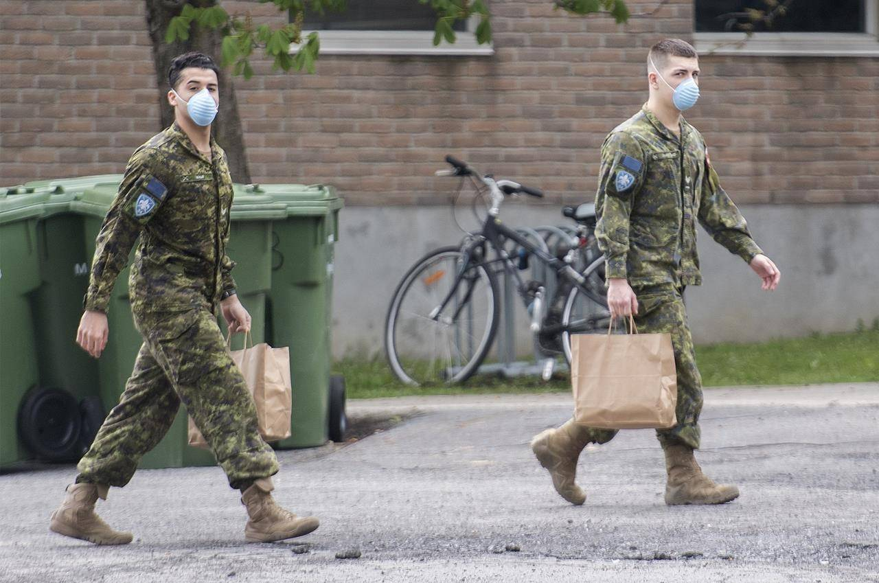 Members of the Canadian Armed Forces are shown at Residence Yvon-Brunet, a long-term care home in Montreal, Saturday, May 16, 2020. Members of the Canadian Armed Forces working inside long-term care homes could find themselves testifying about the state of those facilities in relation to lawsuits against the institutions. THE CANADIAN PRESS/Graham Hughes
