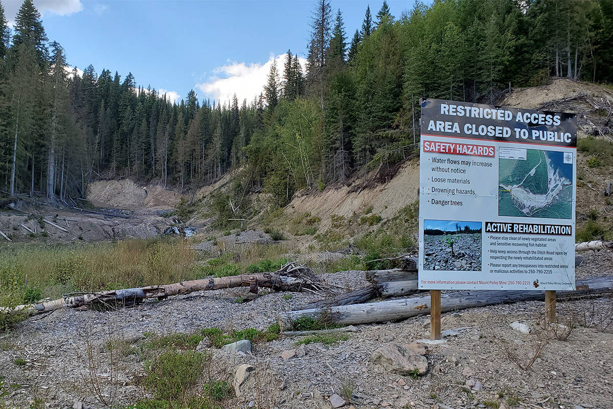 The first disciplinary hearing for engineers in relation to the Mount Polley Mine August 2014 tailings breach begins on Monday, June 15. Here is view looking toward Hazeltine Creek on Sept. 2, 2019. (Monica Lamb-Yorski photo - Williams Lake Tribune)