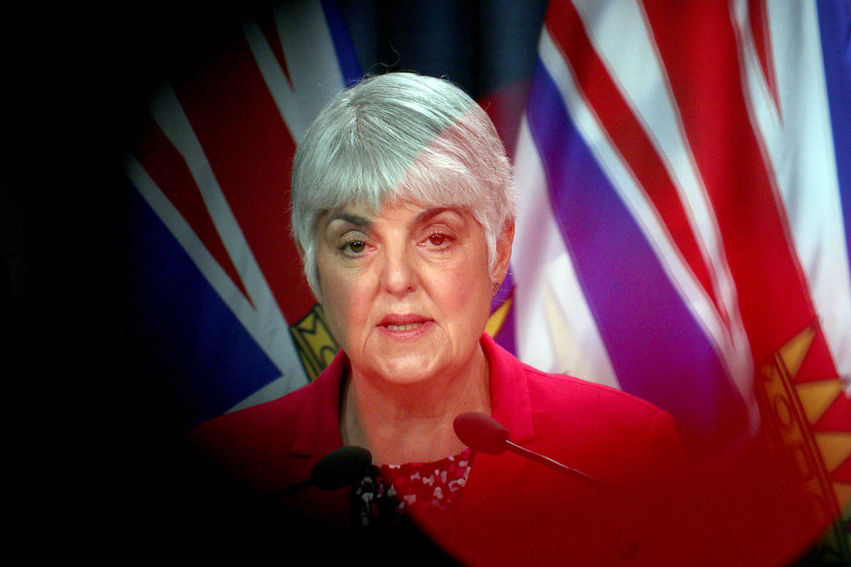 Minister of Finance Carole James. (Photo: THE CANADIAN PRESS/Chad Hipolito)