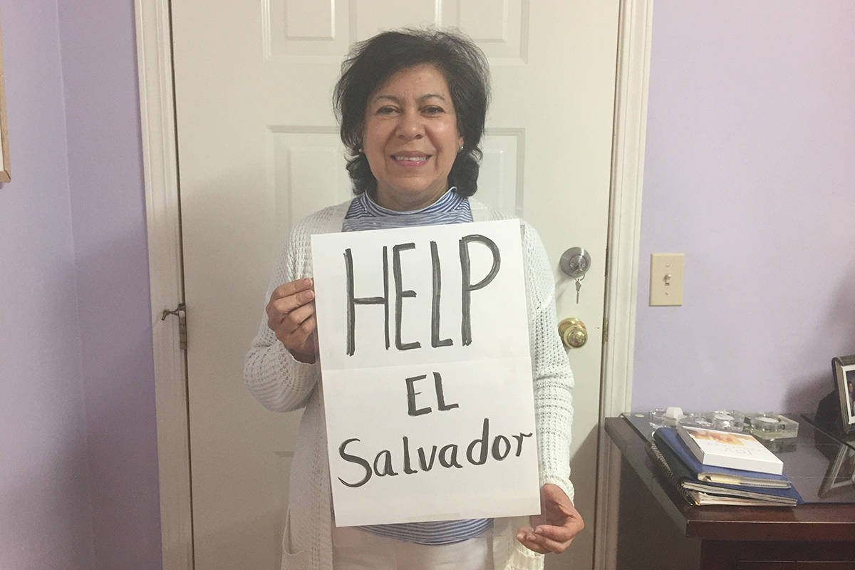 Patricia Cruz is accepting donations to help people in El Salvador. The country was devastated by a tropical storm in early June. (Patricia Cruz photo/Special to the Langley Advance Times)
